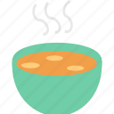 bowl, chicken, drink, hot, soup, stew, hygge icon