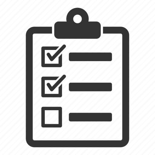 checklist, clipboard, list, report, task, ticks icon