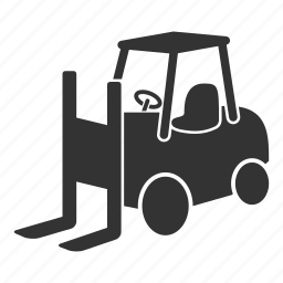 delivery, forklift, lifter, lifting, truck, warehouse icon
