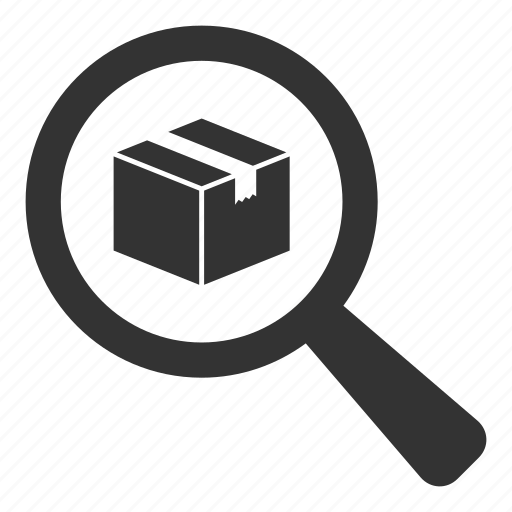 Box, delivery, find, logistics, product, search icon | Icon search ...