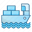 boat, cargo, delivery, logistics, sea, ship icon