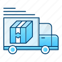 logistics, shipping, transport, truck, van icon