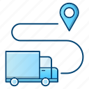 delivery, gps, location, logistics, pin, transportation icon