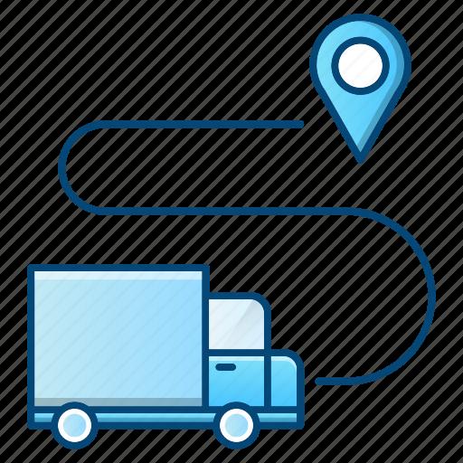 delivery, gps, location, logistics, pin, transportation icon