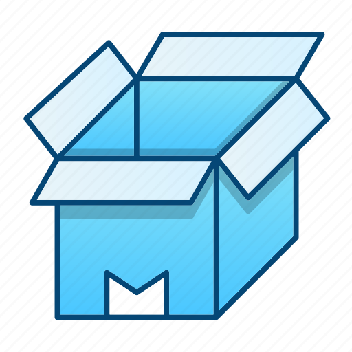 box, delivery, open, package, packaging icon