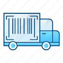 crypto, logistics, number, tracking, truck icon