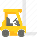 delivery, forklift, service icon