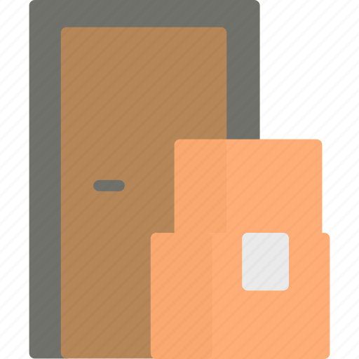 Box, delivery, door, service icon - Download on Iconfinder