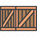 box, crate, delivery, filled, outline, service, wooden icon