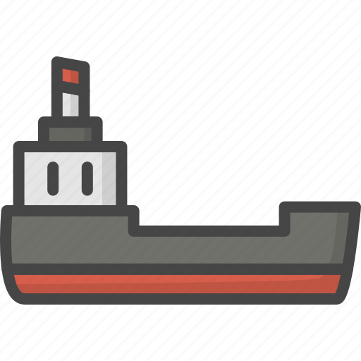 delivery, filled, outline, service, ship, shipping icon