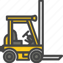 delivery, filled, forklift, outline, service icon