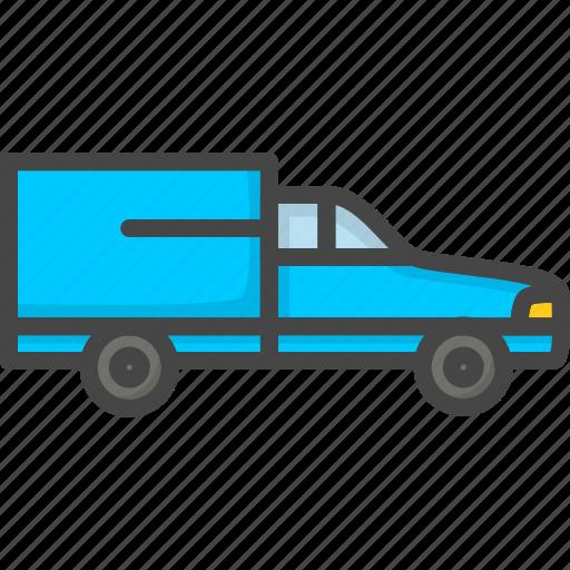 car, delivery, filled, outline, service, van icon