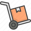 cart, delivery, filled, outline, service icon