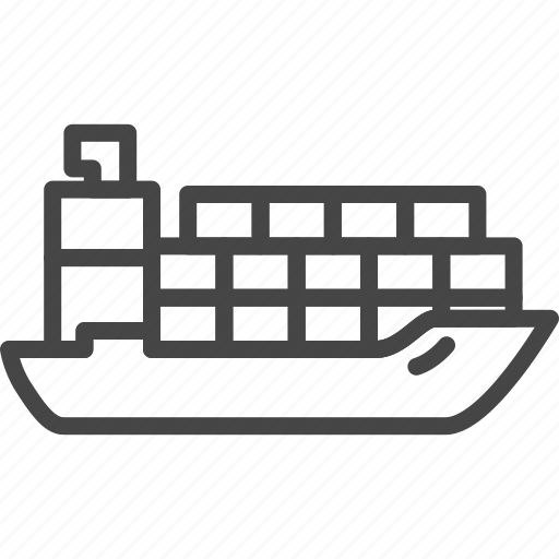 Delivery, line, outline, service, ship, shipping icon - Download on Iconfinder