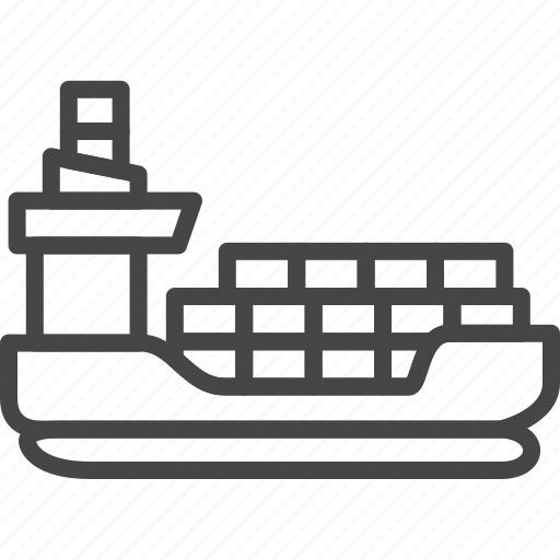 delivery, line, outline, service, ship, shipping icon