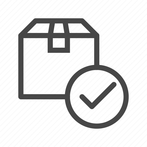 box, check, delivery, ok, package, shipping, shopping icon