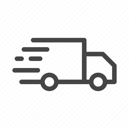 box, delivery, fast, shipping, transport, truck, vehicle icon