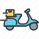 business, delivery, logistic, scooter, service, shipping, transport icon