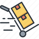business, cart, delivery, logistic, service, shipping, transport icon