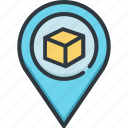business, cargo, delivery, logistic, pin, service, shipping icon