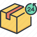 24 hours, business, cargo, delivery, logistic, service, shipping icon