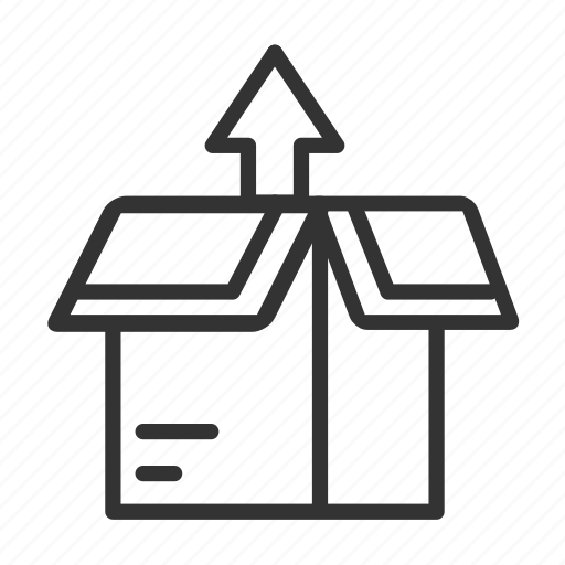 box, export goods, goods, shipping out icon
