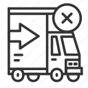 cancel, cancel shipping, delivery, shipping, truck icon
