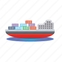 ship, cargo, container, shipping, transport