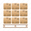 box, euro, pallet, wooden icon