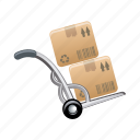 box, hand, mobile, wheel icon