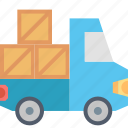 delivery, boxes, logistics, shipping, transportation, truck