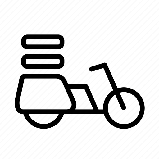 bike, delivery, delivery bike, express, moto icon