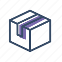 box, delivery box, order, packed, sealed icon