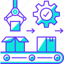 automation, factory, manufacturing, production icon