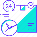 date, delivery, fast, service, time icon