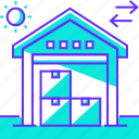 distribution, logistic, storage, warehouse icon