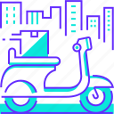 city, motorbike, scooter, service, vehicle icon