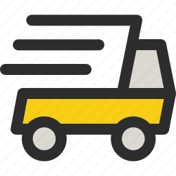 delivery, fast, shipping, shop, transport, transportation, vehicle icon