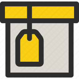 box, delivery, gift, package, present, product, tagged icon