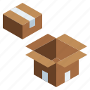 box, business, cardboard, delivery, finance, fragile, package, packaging icon