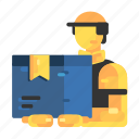 courier, delivery, delivery of goods, men, people icon