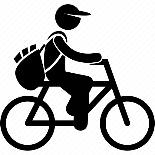 bicycle, courier, delivery, deliveryman, service, shipping icon