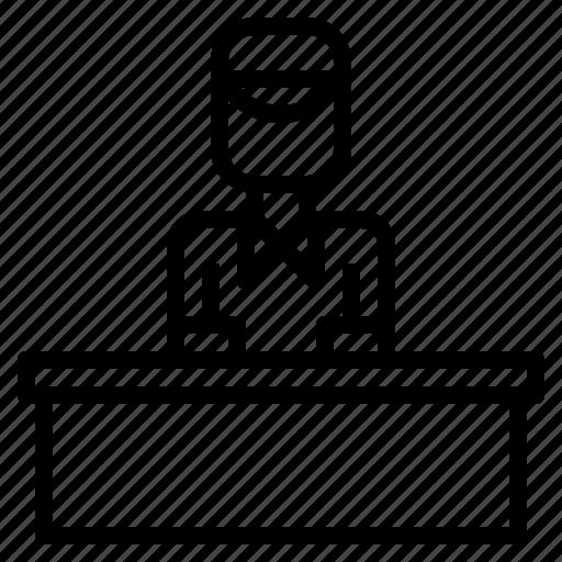 call, center, counter, customer, officer, service icon