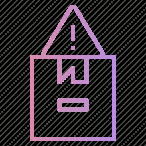 alert, error, notice, package, warning icon