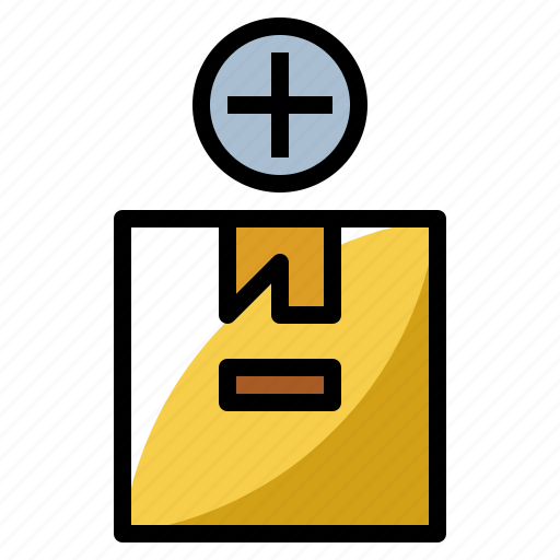 add, box, business, package, packaging icon