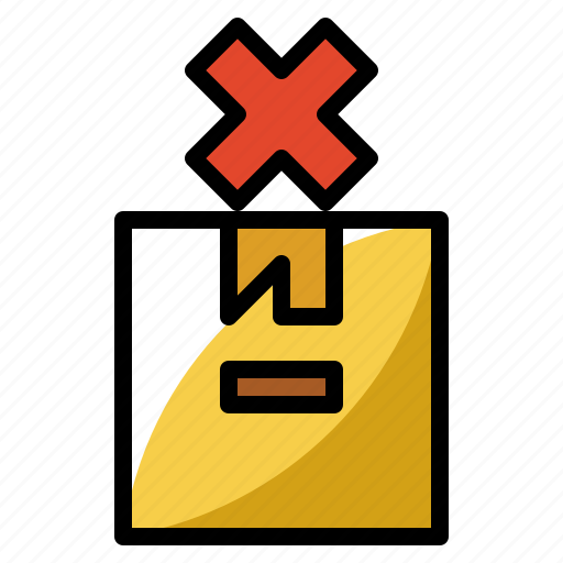 delete, delivery, fragile, package, packaging icon