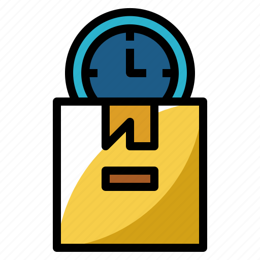 clock, delivery, on, time, timetable icon