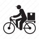 bicycle, delivery, riding, send, shipping icon