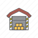 logistic, warehouse icon