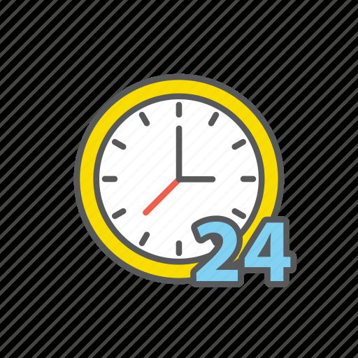 care, customer, four, hour, logistic, service, twenty icon